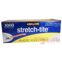 KIRKLAND STRETCH-TITE 3000英尺微波炉保鲜膜914米4170克